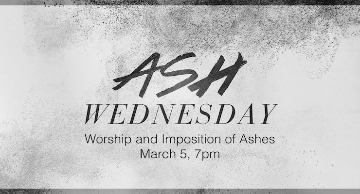 Ash Wednesday Worship at Good Shepherd is Wednesday, March 5 at 7:30pm