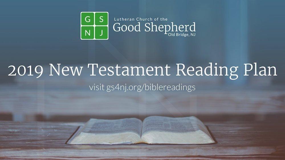 Bible Reading Plan 2019 - Good Shepherd Lutheran Church of
