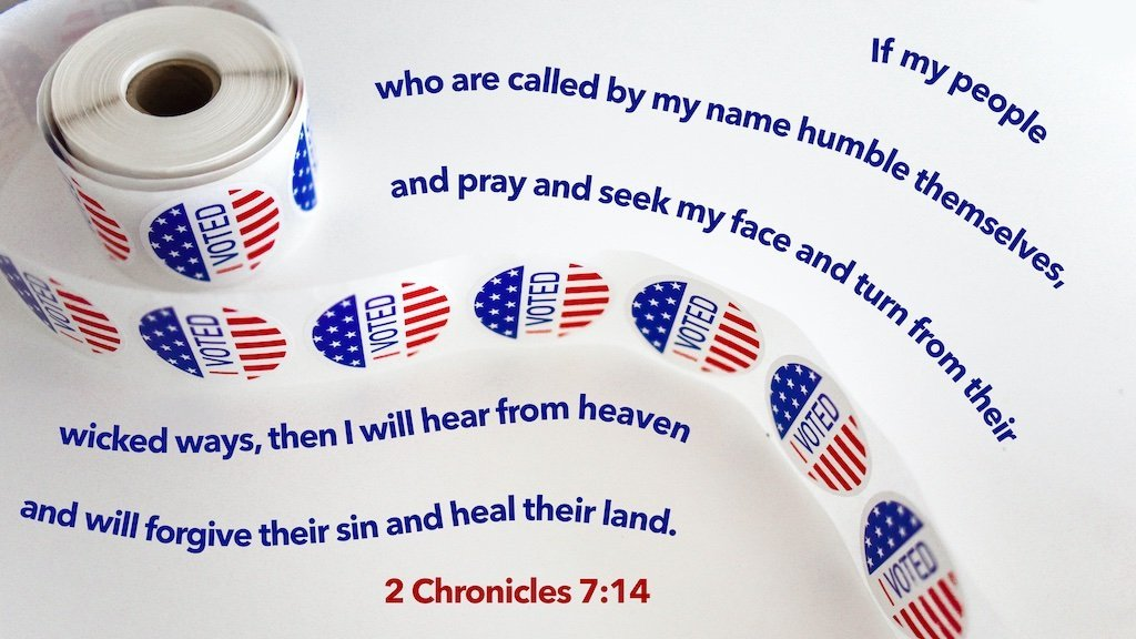 """If my people who are called by my name humble themselves, and pray and seek my face and turn from their wicked ways, then I will hear from heaven and will forgive their sin and heal their land."" (2 Chronicles 7:14, ESV)"